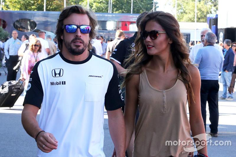 Fernando Alonso, McLaren Honda and his girlfriend Lara Alvarez