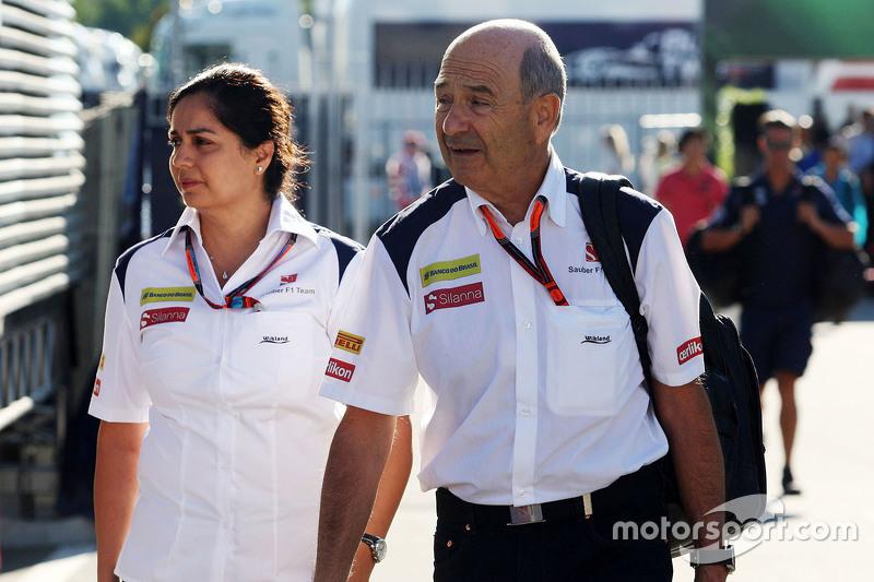 Моніша Калтенборн, Керівник команди Sauber з Петер Заубер, Sauber Президент Ради директорів