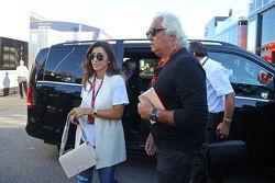 Fabiana Flosi, wife of Bernie Ecclestone with Flavio Briatore