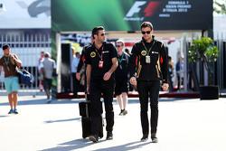 Matthew Carter, Lotus F1 Team, Geschäftsführer, mit Jolyon Palmer, Lotus F1 Team, Test- und Ersatzfa