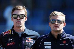 Daniil Kvyat, Red Bull Racing et Marcus Ericsson, Sauber