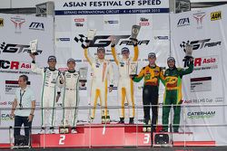 3-Hours of Sepang podium: Keita Sawa, Adderly Fong, Anthony Liu, Davide Rizzo, Darryl O'Young, Daniel Lloyd