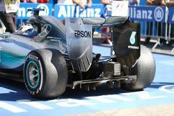 Les pneus arrières de Lewis Hamilton, Mercedes AMG F1