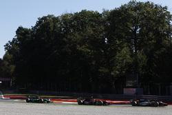 Симон Труммер, Hilmer Motorsport едет впереди Нобухару Мацушита, ART Grand Prix