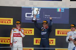 Race 2 Podium: second place Arthur Pic, Campos Racing and winner Mitch Evans, RUSSIAN TIME and third