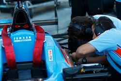 Mechanics work of car of Pal Varhaug, Jenzer Motorsport before the race