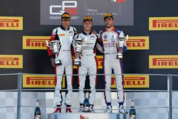 Race 2 Podium: second place Esteban Ocon and winner Marvin Kirchhofer, ART Grand Prix and third plac