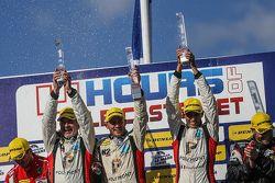 GTC podium: winners Eric Dermont, Franck Perera, Dino Lunardi