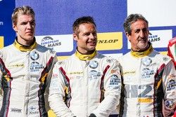 LM GTE podium: second place Andy Priaulx, Henry Hassid, Jesse Krohn