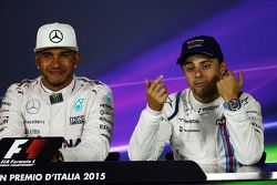 Льюис Хэмилтон, Mercedes AMG F1 и Фелипе Масса, Williams на пресс-конференции