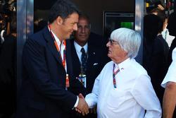 Маттео Ренци, премьер-министр Италии и Берни Экклстоун