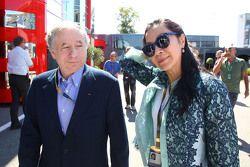 Jean Todt, Presidente FIA con la moglie Michelle Yeoh