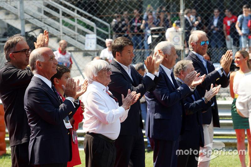 Dr Angelo Sticchi Damiani, Aci Csai Başkanı, Sergio Marchionne, Ferrari Başkanı ve Fiat Chrysler Aut