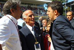 Pasquale Lattuneddu della FOM con Dr Angelo Sticchi Damiani, Presidente Aci Csai e Matteo Renzi, Primo Ministro Italiano