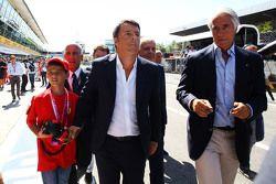 Matteo Renzi, Primo Ministro Italiano con il figlio