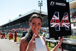 Ombrellina per Lewis Hamilton, Mercedes AMG F1
