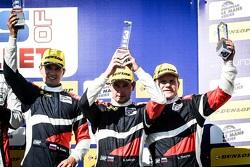 Подиум: Михаил Алешин, Кирилл Ладыгин, Виктор Шайтар, BR01. AF Racing, второе место