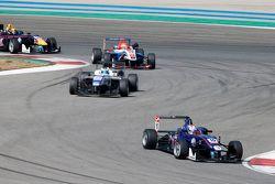 George Russell, Carlin Dallara Volkswagen y Sergio Sette Camara, Motopark Dallara Volkswagen y Pietr