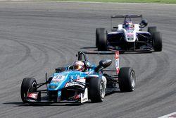 Raoul Hyman, Team West-Tec F3 Dallara Mercedes-Benz y Zhi Cong Li, Fortec Motorsports Dallara Merced