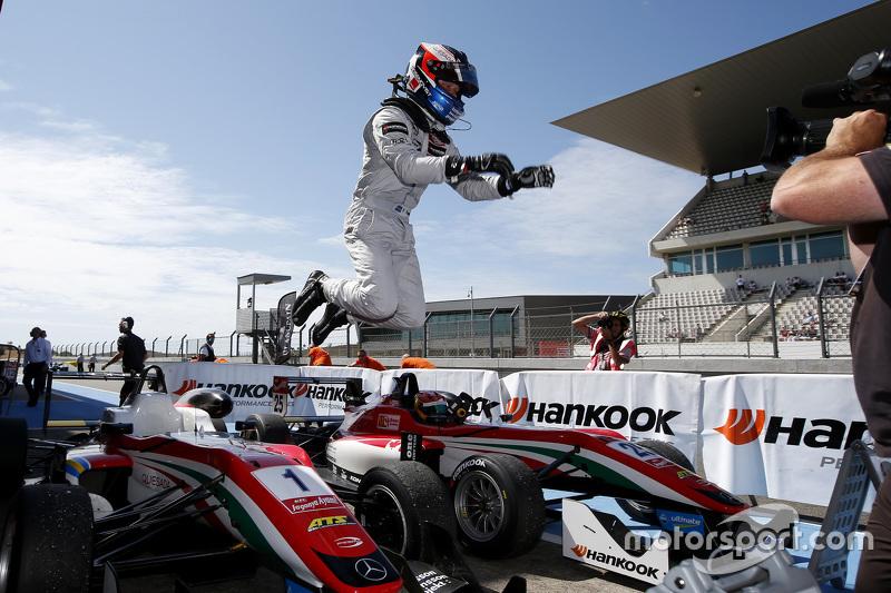 Race 3 winner Felix Rosenqvist, Prema Powerteam Dallara Mercedes-Benz