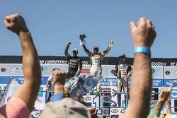 Celebración en el podio
