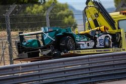 #48 Murphy Prototypes Oreca 03R - Nissan: Mark Patterson, Nathanael Berthon, Michael Lyons after crash