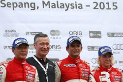 Round 1 podium: winner Alex Yoong Alex Yoong, Audi TEDA Racing Team, second place Marchy Lee, Audi