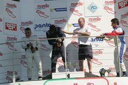 Podio Gara 1: Giorgio Mondini, Eurointernational, Marco Jacoboni, Progetto Corsa, Simone Iaquinta, Sport Made in Italy