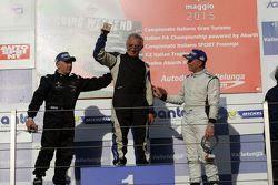 Podio Gara 1 CN2: Filippo Vita, Progetto Corsa, Walter Margelli, Nannini Racing, Marco Jacoboni, Pro