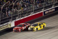 Justin Allgaier, HScott Motorsports Chevrolet y Ryan Newman, Richard Childress Racing Chevrolet