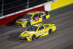 Jeb Burton, BK Racing Toyota y Matt Kenseth, Joe Gibbs Racing Toyota