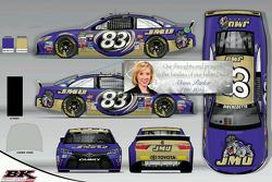 Esquema de pintura BK Racing en honor a Alison Parker