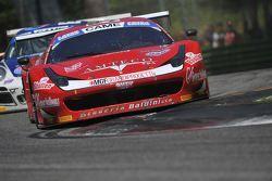 La Ferrari 458 italia-GT3 #27 di Lorenzo Case e Stefano Gattuso, Scuderia Baldini 27 Network