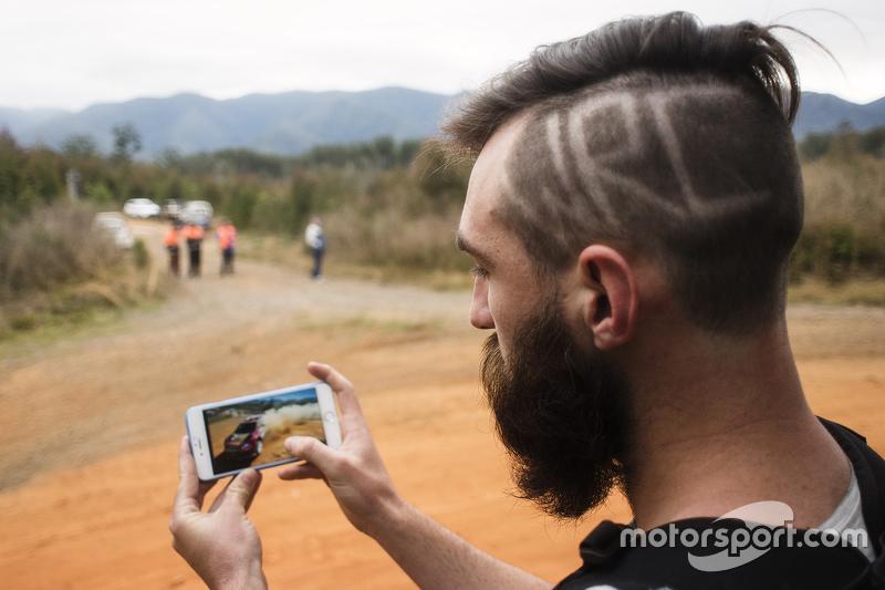 Un fan del WRC