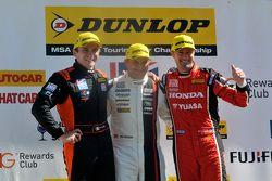 Race 1, Round 22 Podium 1st Mat Jackson, 2nd Gordon Shedden, 3rd Aron Smith