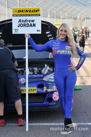 MG Pirtek Racing Grid girl