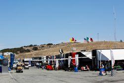 Laguna Seca's paddock