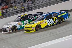 Blake Koch, TriStar Motorsports Toyota and Josh Berry, JR Motorsports Chevrolet