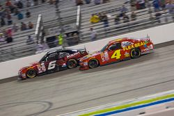 Darrell Wallace Jr., Roush Fenway Racing Ford and Ross Chastain, JD Motorsports Chevrolet