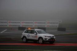 Training uitgesteld door mist