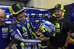 Valentino Rossi, Yamaha Factory Racing shows off his special helmet design