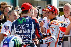 Polezitter Jorge Lorenzo, Yamaha Factory Racing en tweede Marc Marquez, Repsol Honda Team