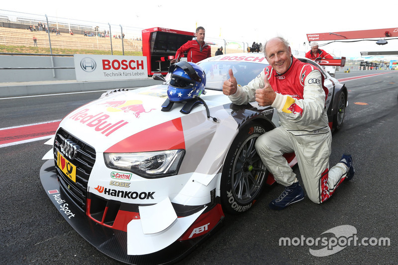 Hans-Joachim Stuck with the Audi RS 5 DTM race taxi
