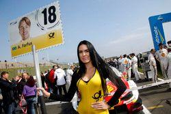Gridgirl of Augusto Farfus, BMW Team RBM BMW M34 DTM