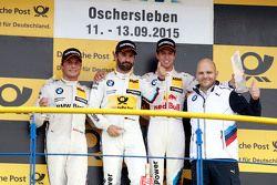 Podium: tweede Bruno Spengler, BMW Team MTEK BMW M4 DTM, eerste Timo Glock, BMW Team MTEK BMW M3 DTM