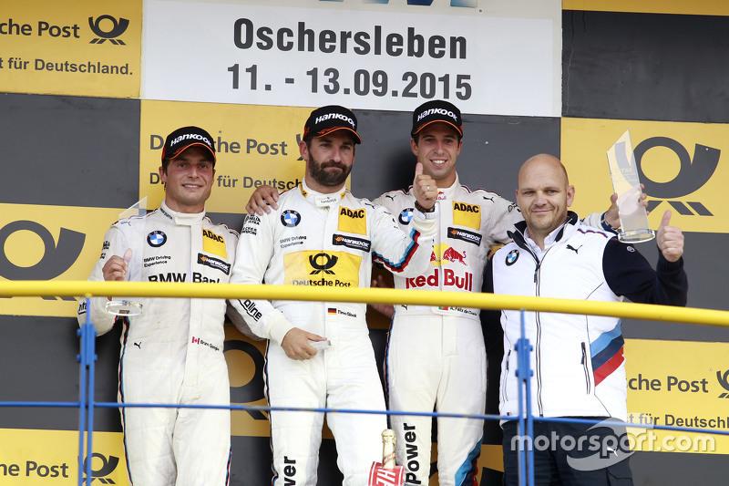Podium: 2nd Bruno Spengler, BMW Team MTEK BMW M4 DTM, 1st Timo Glock, BMW Team MTEK BMW M3 DTM, 3rd Antonio Felix da Costa, BMW Team Schnitzer BMW M4 DTM, Ernest Knoors, BMW Team MTEK