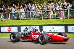 Sir Jackie Stewart taking part in the Tribute to Bruce McLaren