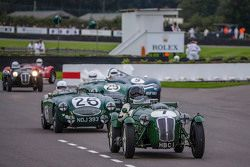 Richard Meaden en Tim Summers, Frazer Nash Le Mans Replica uit 1950 tijdens Freddie March Memorial T