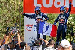 Ganadores y campeone 2015, Sébastien Ogier y Julien Ingrassia, Volkswagen Polo WRC, Volkswagen Motor