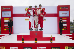 Trofeo Pirelli podium: winner Emmanuel Anassis, second place John Farano, third place Ryan Ockey